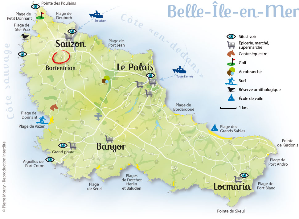 Belle ile en mer carte voyages cartes - Belle piscine ile de france ...